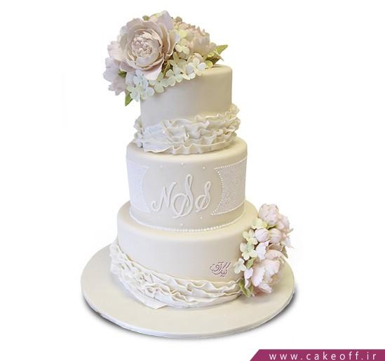سفارش کیک عقد و عروسی و نامزدی - کیک عروسی آیناز | کیک آف