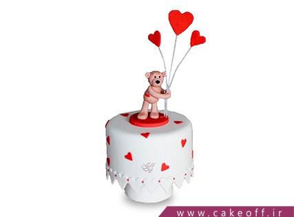 کیک ولنتاین - کیک قلب عاشق | کیک آف