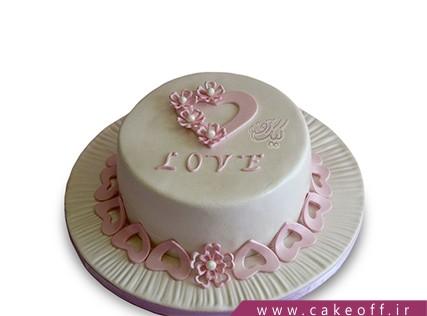 کیک عاشقانه - کیک شیرینی خیالت | کیک آف