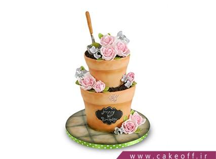سفارش کیک خاص - کیک گلدان مادربزرگ | کیک آف