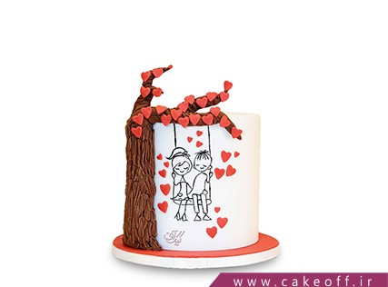 کیک ولنتاین - کیک یک روز خاص | کیک آف