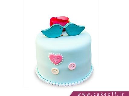 کیک عاشقانه راز چکاوک های آبی | کیک آف