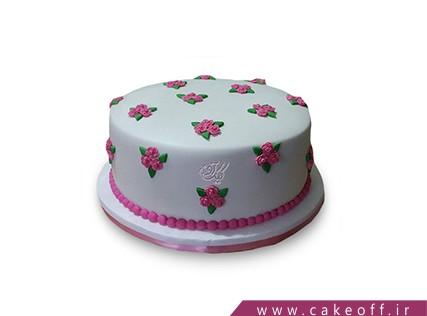 کیک ساده و خوشمزه - کیک باغ گل رز   کیک آف