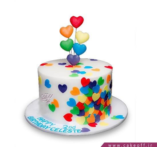 سفارش کیک عاشقانه - کیک عشقت زندگیمو رنگی کرده | کیک آف
