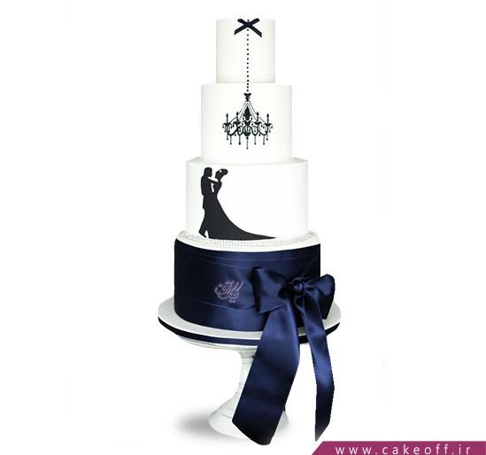 کیک عاشقانه رقص عشق   کیک آف