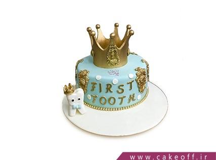 کیک جشن دندونی - کیک تاج طلا و دندون | کیک آف