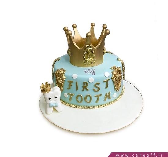 کیک تاج طلا و دندون