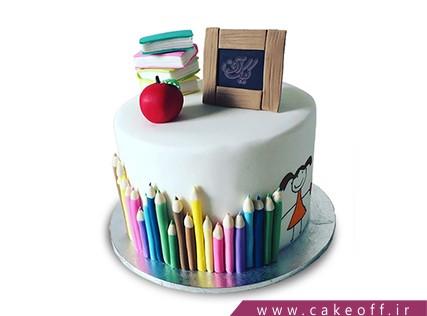 کیک اولین روز مدرسه - کیک کلاس نقاشی گل دختر | کیک آف