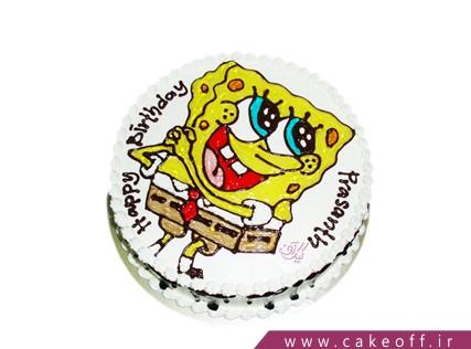 کیک خامه ای باب اسفنجی | کیک آف