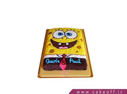 کیک تولد باب اسفنجی - کیک باب اسفنجی خوشتیپ | کیک آف