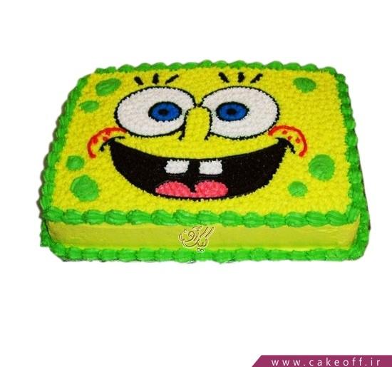 کیک باب اسفنجی می خندد