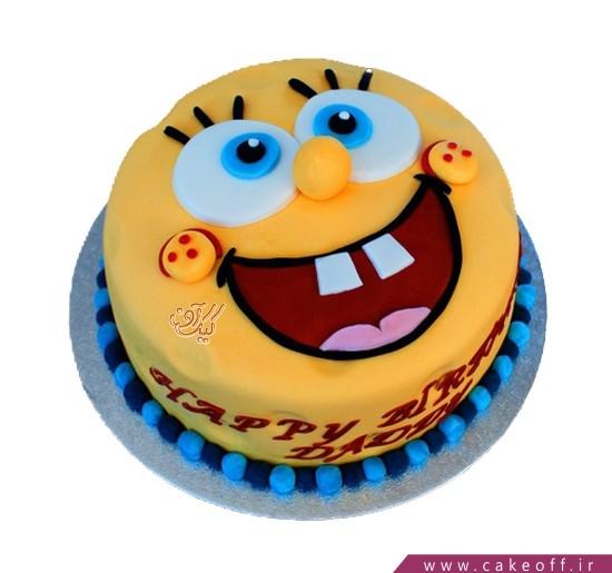 کیک تولد باب اسفنجی ذوق زده