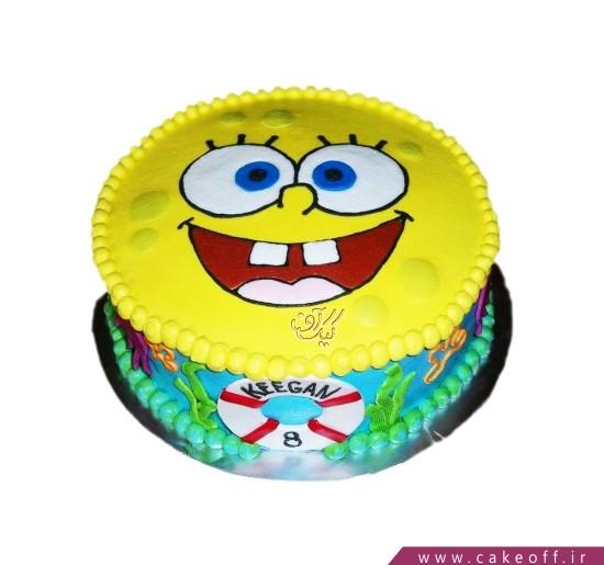 کیک باب اسفنجی کارتونی