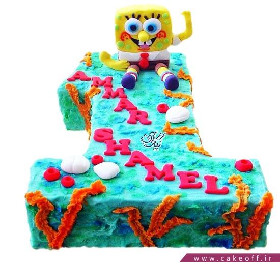 کیک تولد یک سالگی باب اسفنجی