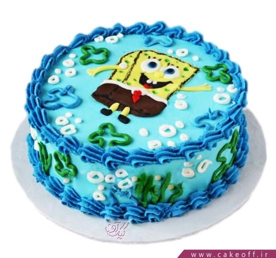 کیک باب اسفنجی شنا می کند