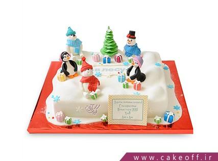 کیک بچه گانه شهر آدم برفی ها | کیک آف