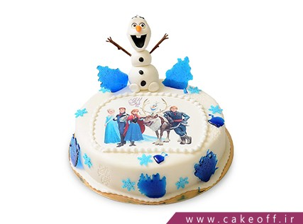 کیک تولد بچه گانه - کیک السا و اولاف 2 | کیک آف