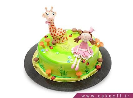 کیک تولد بچگانه دخترک و زرافه | کیک آف