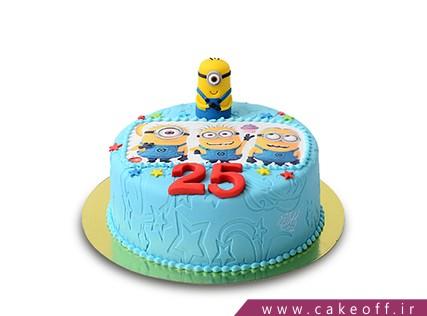 سفارش کیک تولد در اصفهان - کیک بچه گانه چهار مینیون شیطون | کیک آف