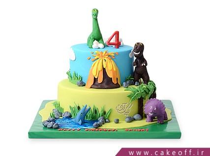 کیک بچگانه دایناسور ها | کیک آف