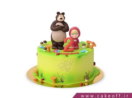کیک تولد دختر بچه - کیک ماشا و میشا 1 | کیک آف