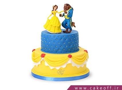 کیک فیگور - کیک تولد دیو و دلبر | کیک آف
