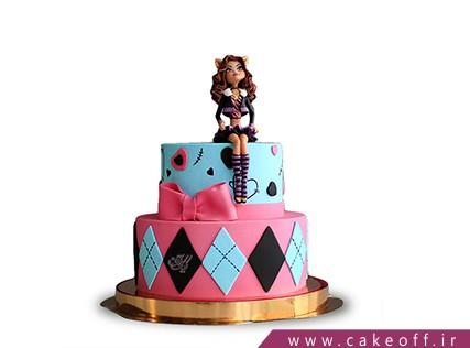کیک زنانه مانستر های | کیک آف
