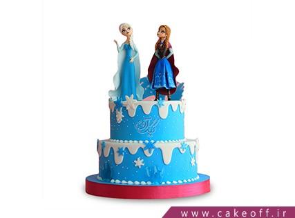 کیک دخترانه السا و آنا 5 | کیک آف