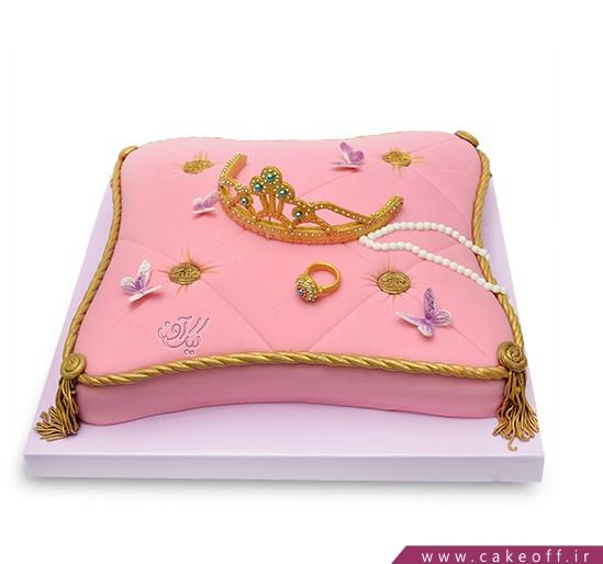 کیک تاج طلا