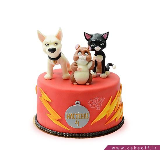 کیک کارتونی سگ تیز پا