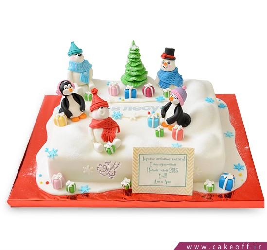 کیک شهر آدم برفی ها
