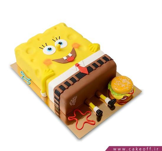 کیک باب اسفنجی خوابالو | کیک آف