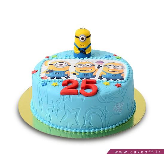 کیک بچه گانه چهار مینیون شیطون