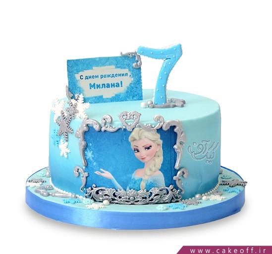کیک تولد دخترانه السای دلربا