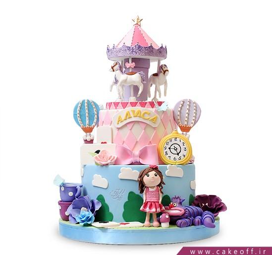 کیک تولد دختر بچه رویای دخترک | کیک آف