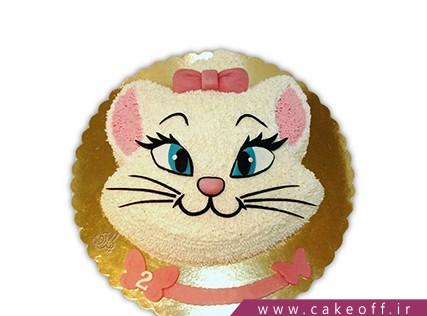 انواع کیک تولد دخترانه - کیک دخترانه گربه اشرافی | کیک آف