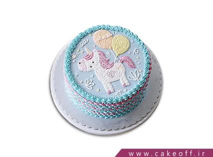 کیک تولد کودک - کیک اسب تک شاخ بادکنک فروش | کیک آف