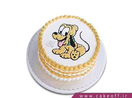 کیک تولد بچه - کیک سگ بازیگوش | کیک آف