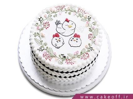 کیک تولد کودک - کیک تولد بچه - کیک جوجه های دو قلو | کیک آف