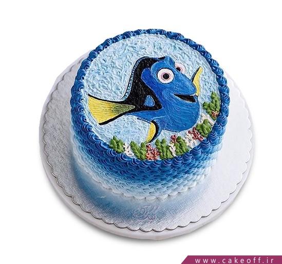 انواع کیک تولد - کیک ماهی آبی دریا | کیک آف