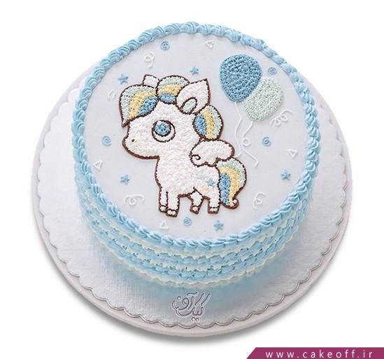 کیک تولد کودک - کیک تولد بچه - کیک اسب بالدار   کیک آف