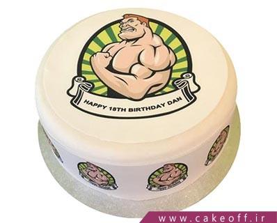 کیک بدنسازی - کیک تصویری آرنولد همیشه قهرمان | کیک آف