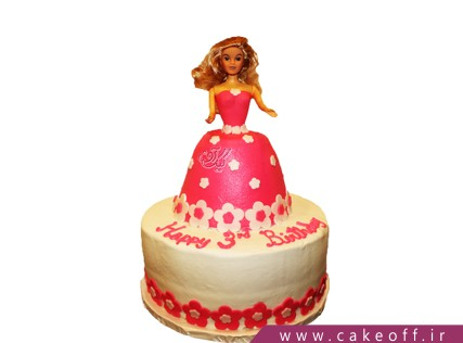 کیک دخترانه باربی