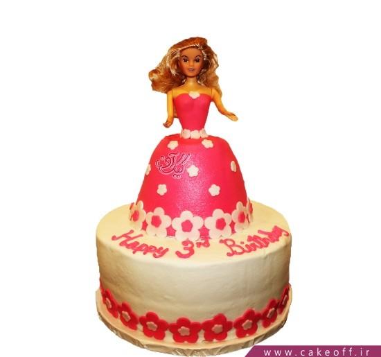 کیک باربی مو پریشان