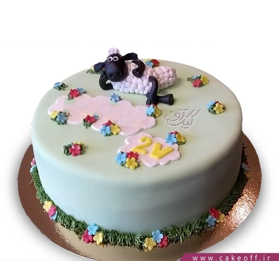 سفارش کیک انلاین - کیک حیوانات - کیک بره ناقلا ۱۳ | کیک آف
