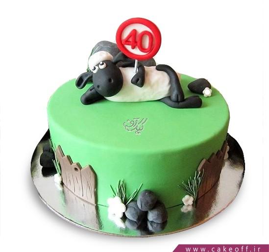 سفارش اینترنتی کیک - کیک حیوانات - کیک بره ناقلا ۱۵ | کیک آف