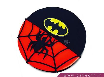 کیک تولد بت من و مرد عنکبوتی - کیک بتبوتی | کیک آف