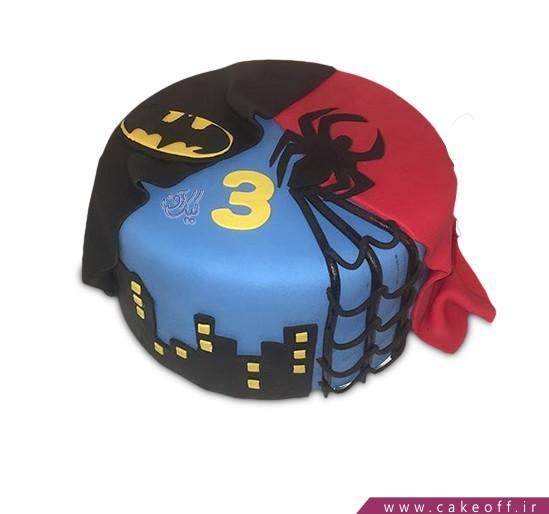 کیک مرد عنکبوتی و بتمن در شهر