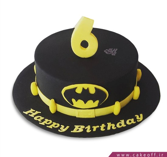 کیک تولد پسرانه - کیک بتمن 18 | کیک آف