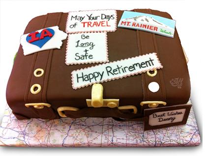 کیک بازنشستگی - کیک شکلاتی آغاز سفر | کیک آف